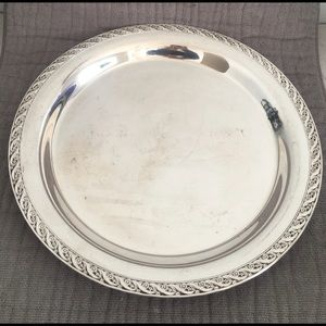 WM Rogers & Sons Spring Flower Large Relish Tray